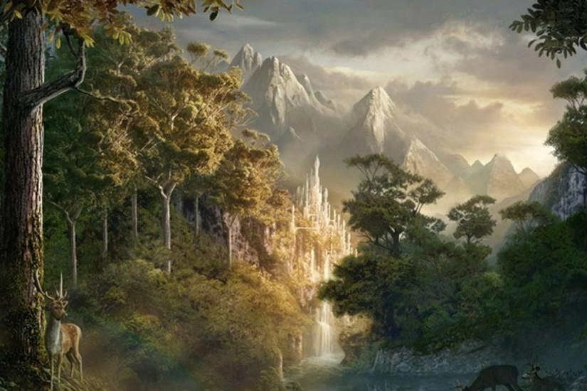 Fantasy Forest Landscape Wallpaper Free HD