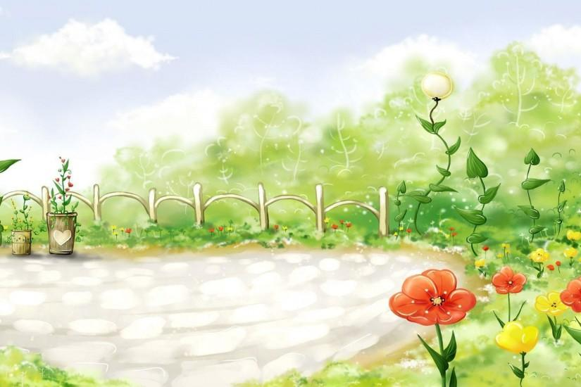 free download garden background 1920x1080 for iphone 6
