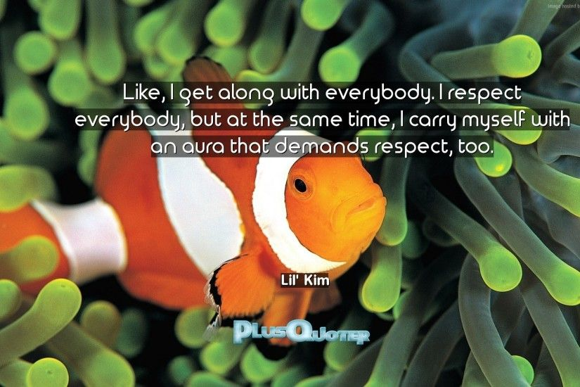 "Download Wallpaper with inspirational Quotes- ""Like, I get along with  everybody. I"