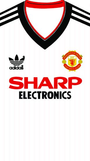 Manchester United Away kit 1982 iphone 5 5s 6 wallpaper
