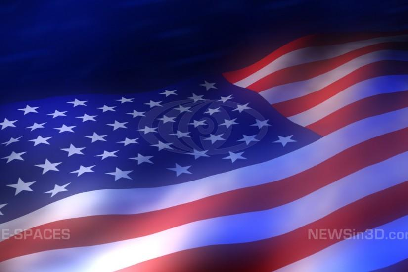 HD, Animated Background Abstract Flag. America Votes TV Graphic Design .