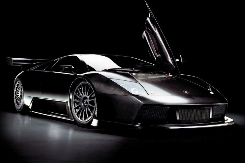 Preview wallpaper black, car, lamborghini, murcielago 1920x1080