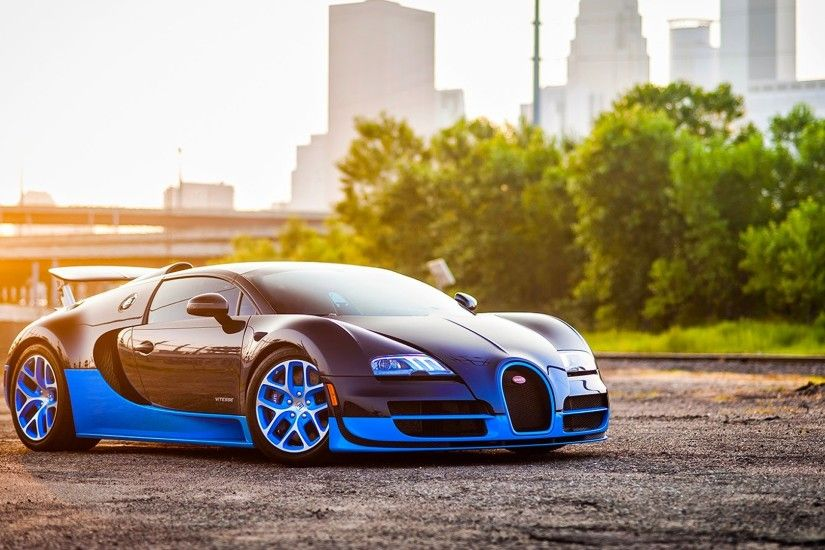 Preview wallpaper bugatti, veyron, grand, blue, side view 1920x1080