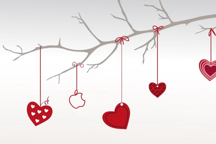 Heart Shape and Red Color Hangings in Heart Shape and Red Color, Style is  Simple and Clean