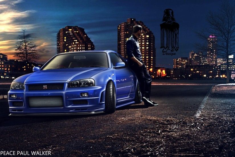 Paul Walker, Fast And Furious, Furious 7, Nissan Skyline GT R R34 Wallpapers  HD / Desktop and Mobile Backgrounds