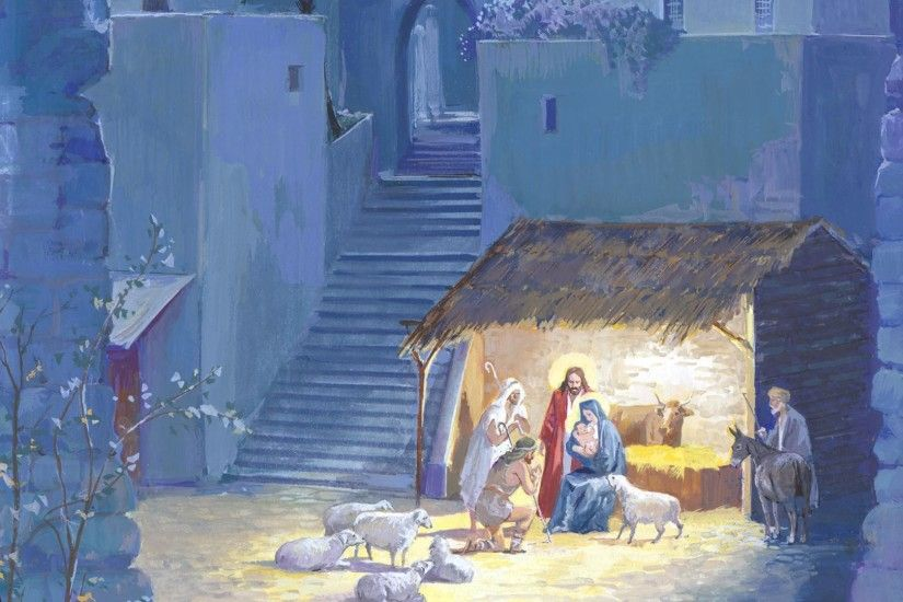 ... Christmas Nativity Scene Wallpapers ...
