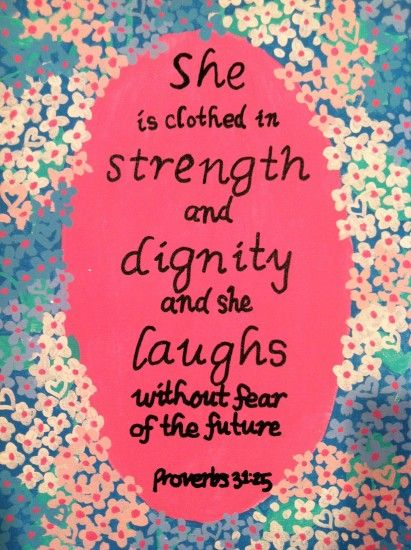 Proverbs 32:25 with a Lilly Pulitzer Background <3