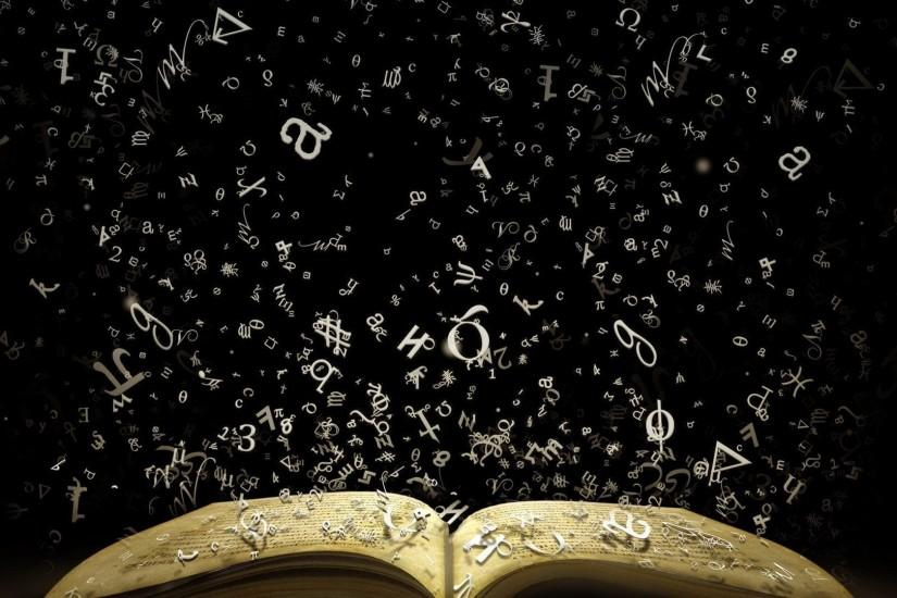 Books alphabet black background wallpaper | 1920x1080 | 280421 | WallpaperUP