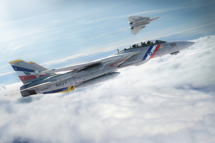 14 plane fighter sky tomcat military jet wallpaper | 3000x1875 .