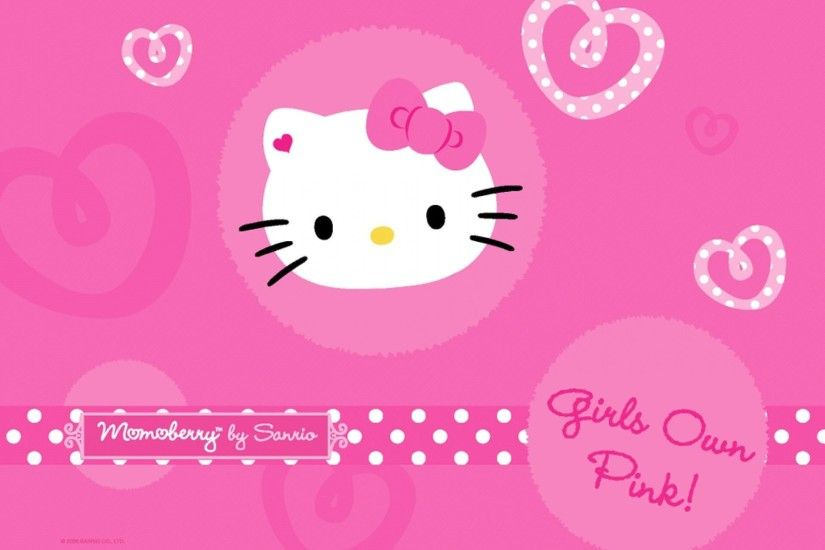 Sanrio Hello Kitty Pink Background