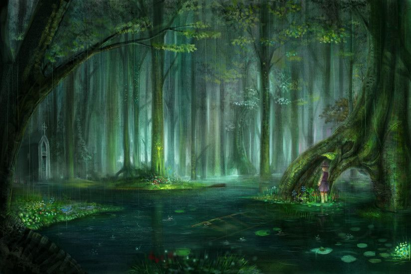 #nature #anime #background #swamp