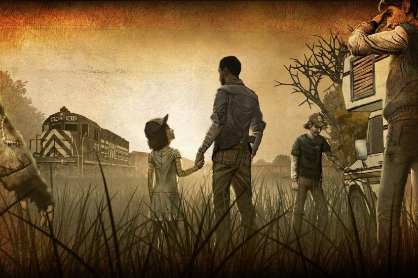 walking dead game wallpaper - happy with game