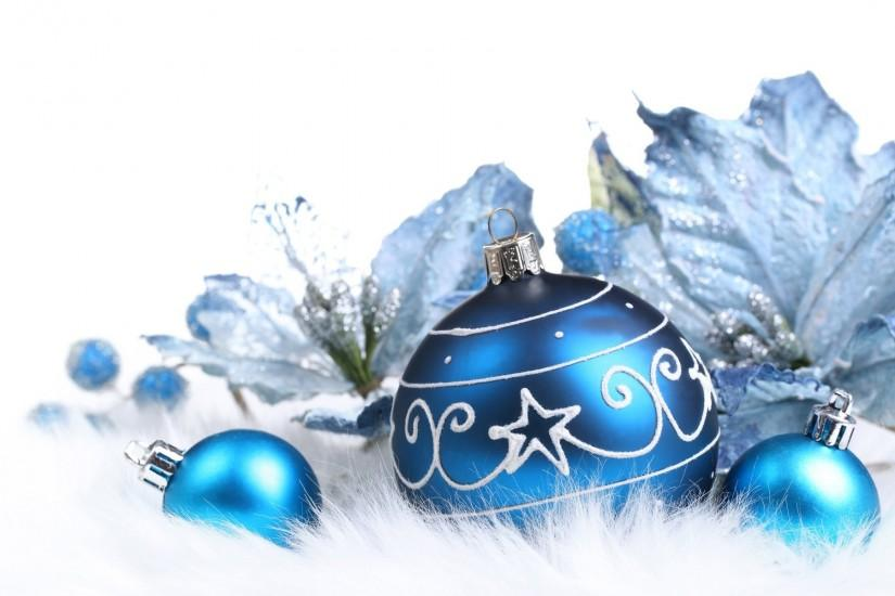 Cool Blue Christmas Background.