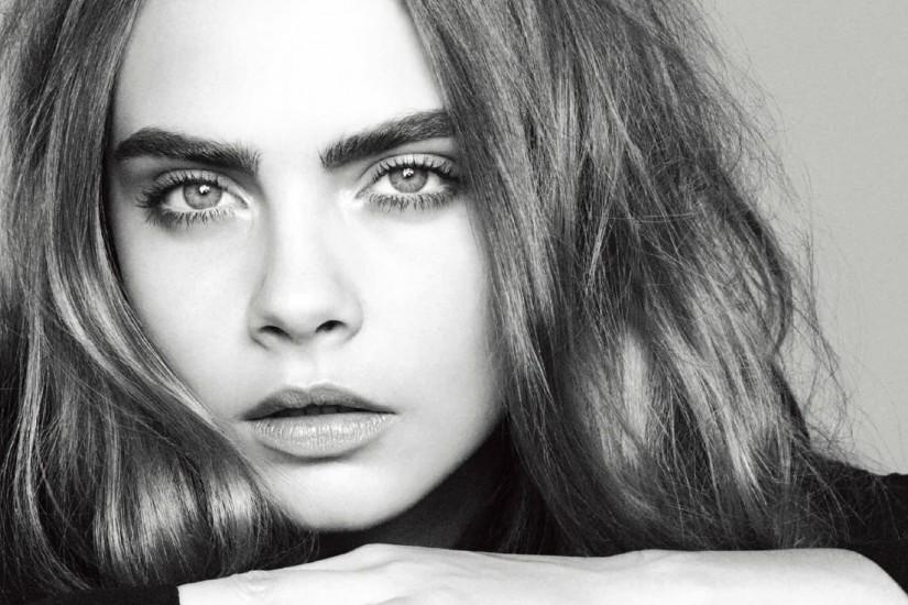 Cara Delevingne black-white High Quality wallpapers
