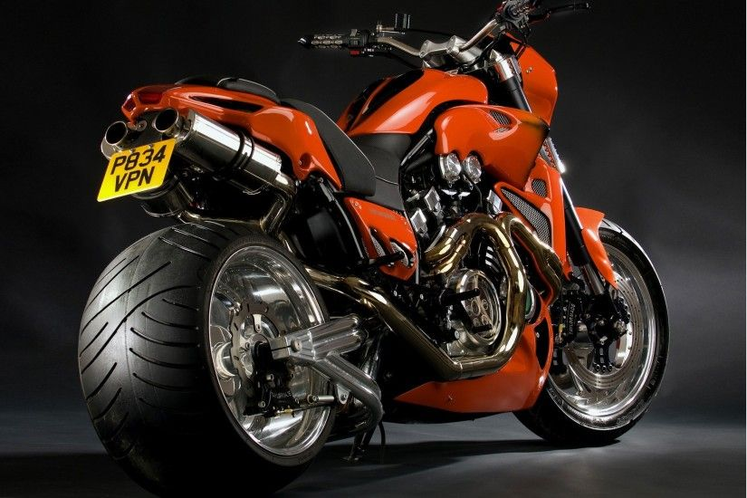 Cool red motorcycle close-up wallpaper thumb