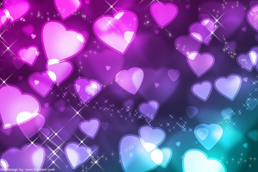 Purple hearts Wallpaper #9169 Diamond Hearts Live Wallpaper - Android Apps  on Google Play ...