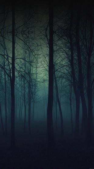 Eerie Forest Night iPhone 6 Plus HD Wallpaper ...