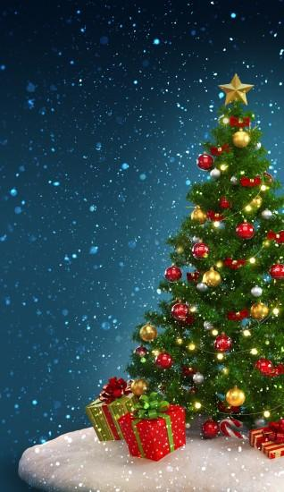 christmas tree wallpaper 1500x2592 hd for mobile
