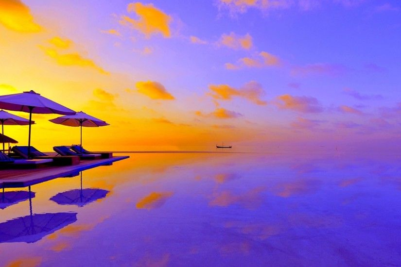 #110055 Color - Paradise Summer Beach Maldives Tropical Wallpaper S4 for HD  16:9