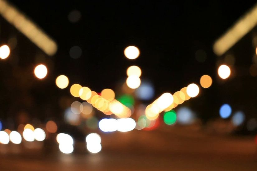 The city lights. Motion blur. Abstract background.