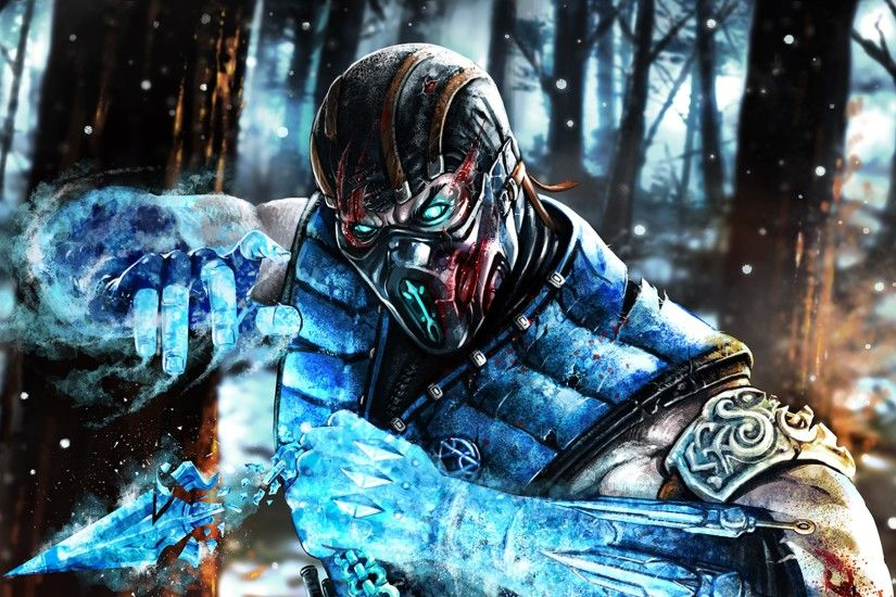 3840x2160 Wallpaper sub-zero, mortal kombat x, art, mortal kombat