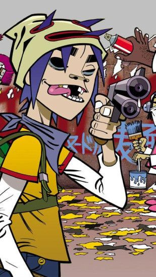 Gorillaz Graffiti Wallpaper Iphone Tagging Plastic Beach Graffiti Music  Jerryboy Gorillaz The Fall Hd