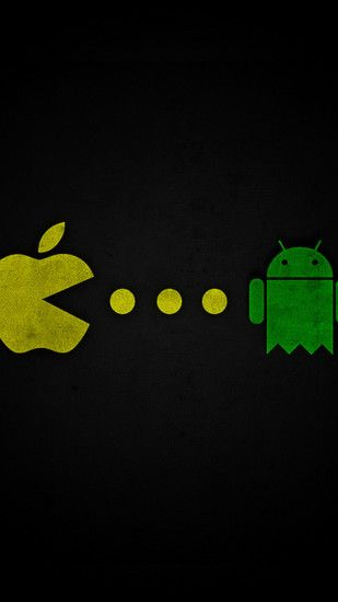 Apple Pacman eating Android Wallpapers for Galaxy S5