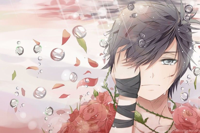 Sad Boy Covered In Roses Wallpapers Anime Wallpapers