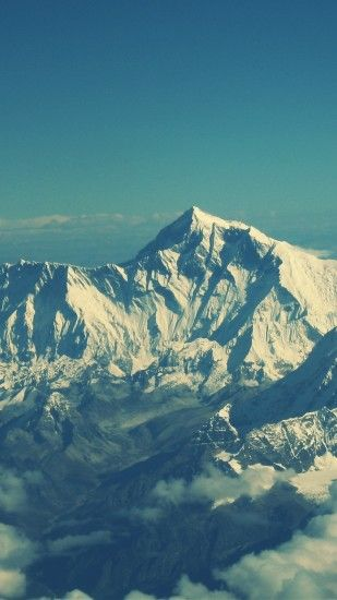 Preview wallpaper everest, mountain, sky, tops 1440x2560