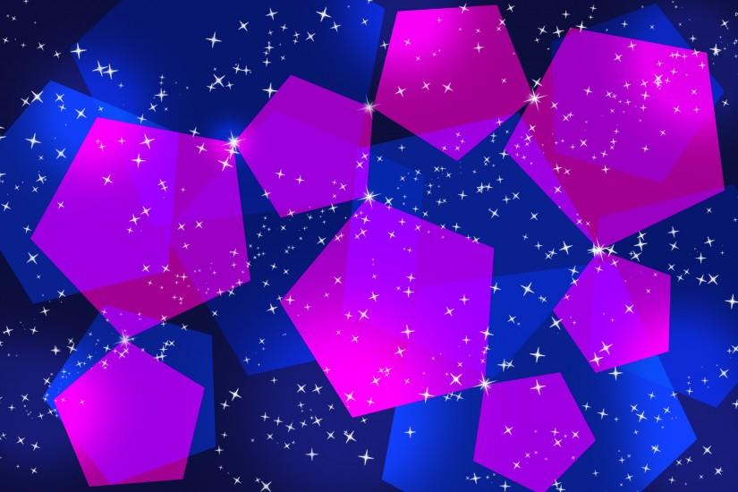 Blue and pink pentagons wallpaper - Abstract wallpapers - #497