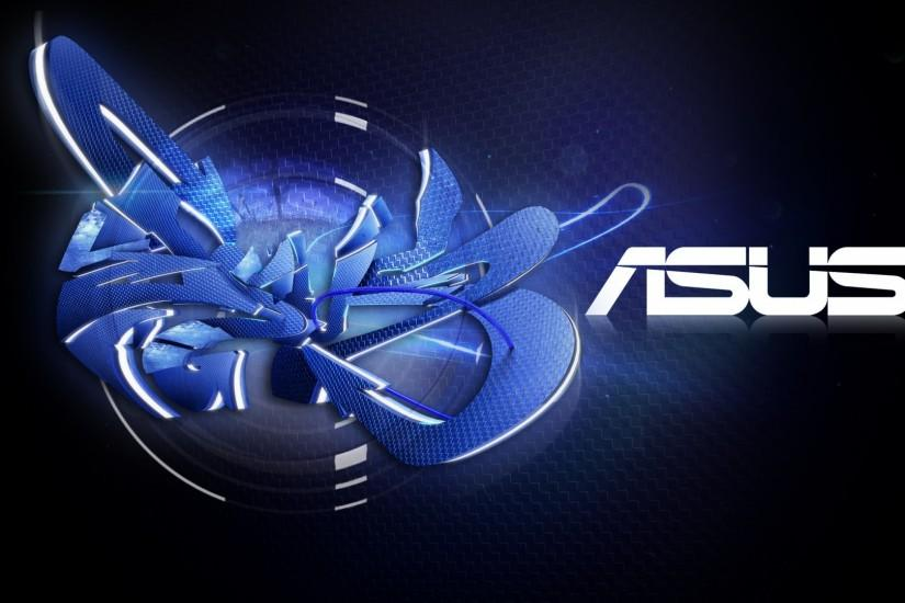 Preview wallpaper asus, company, logo, graffiti, black, blue 1920x1080