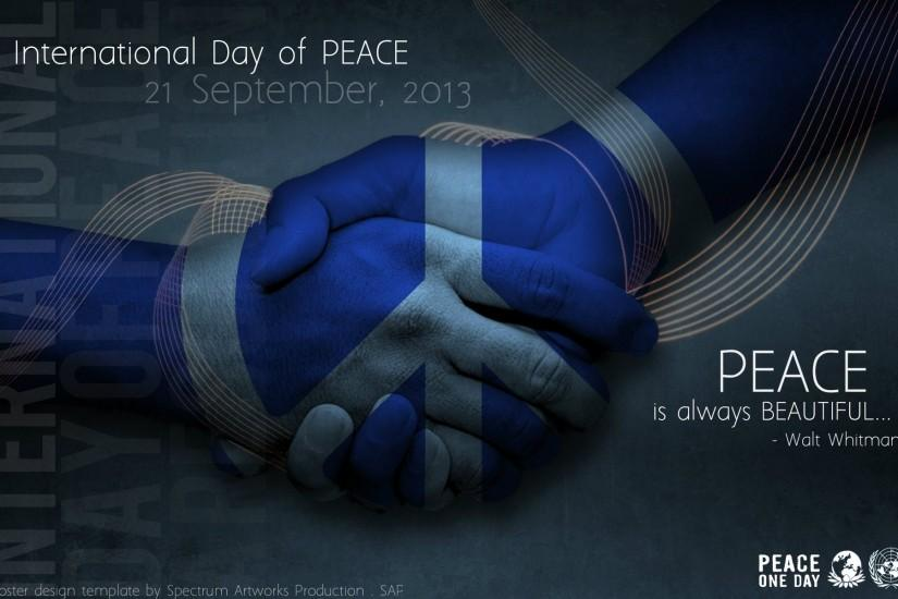 HD Wallpaper: International Day of Peace