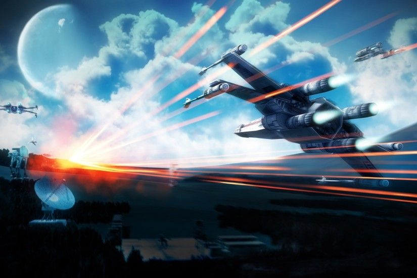 Star Wars, Spaceship, Science Fiction, Battlefield 3, Caspian Border, X wing  Wallpapers HD / Desktop and Mobile Backgrounds