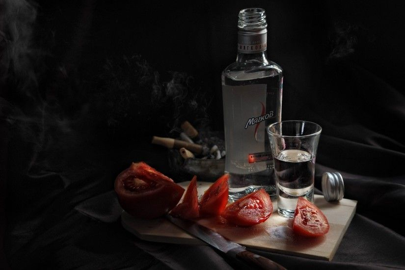wallpapers food liquor tomatoes knives alcohol vodka wallpaper .