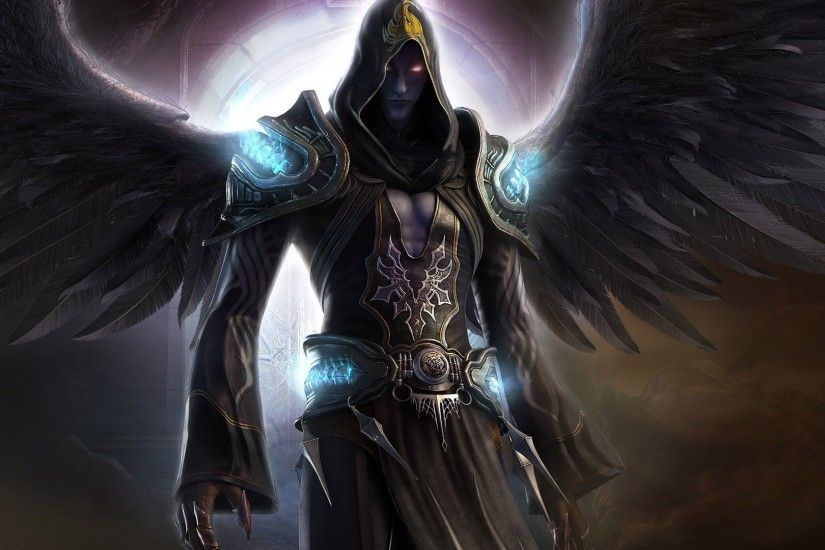 Dark Angel Wings Fantasy Magician Force Angels Red Eyes Night Shadow Last  Chaos