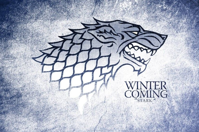 Winter Is Coming, Stark Wolf Grunge Logo 1920x1200 WIDE Image TV .