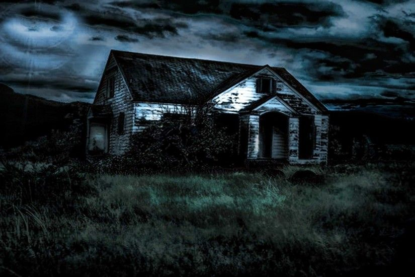 Dark House Scary Wallpaper Background