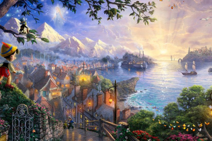 Thomas-Kinkade-Disney-Dreams-Collection-Thomas-kinkade-disney-