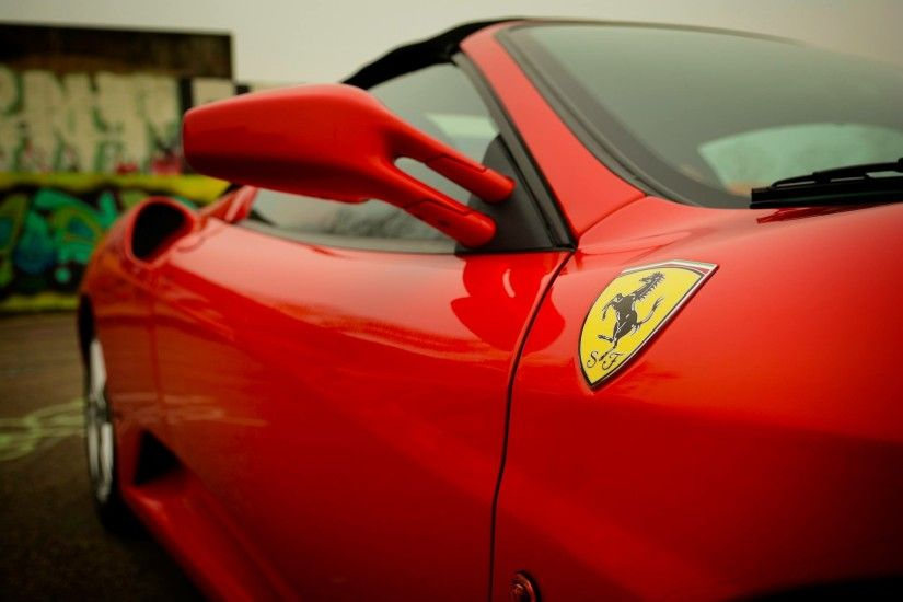 auto automobile automotive ca red ferrari logo wallpaper