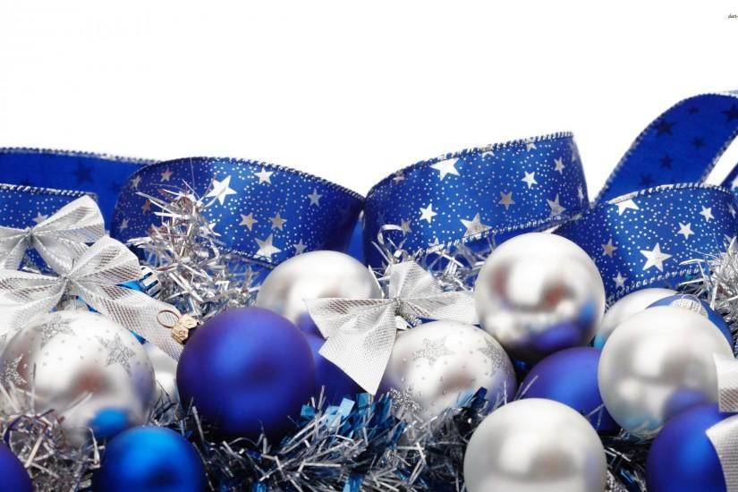 Blue And Silver Christmas Background (16)