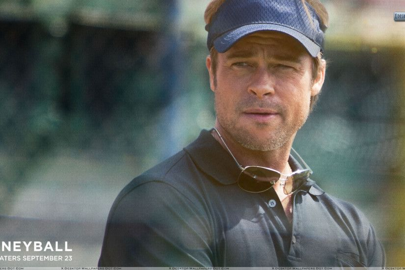 "You are viewing wallpaper titled ""Moneyball – Brad Pitt ..."