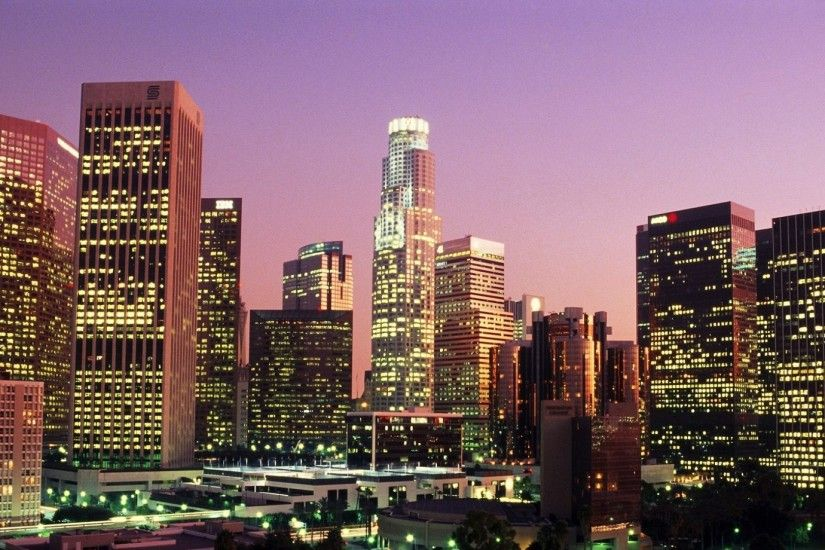 1920x1080 Wallpaper los angeles, california, usa, city lights, skyscrapers