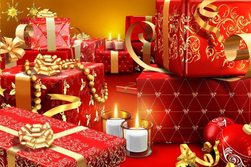 Christmas Presents Wrapped in Red Christmas Presents Wrapped in Red HD  Wallpaper