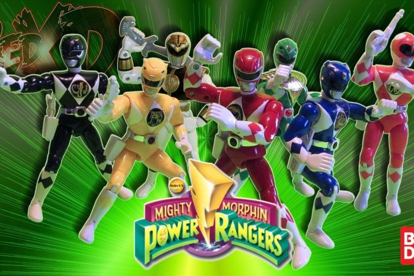 Bandai Mighty Morphin Power Rangers 8 inch talking action figures review