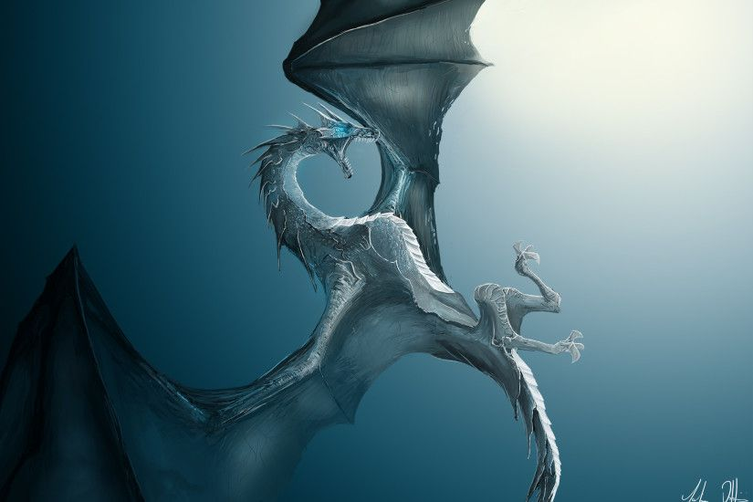 Ice Dragon Background HD.