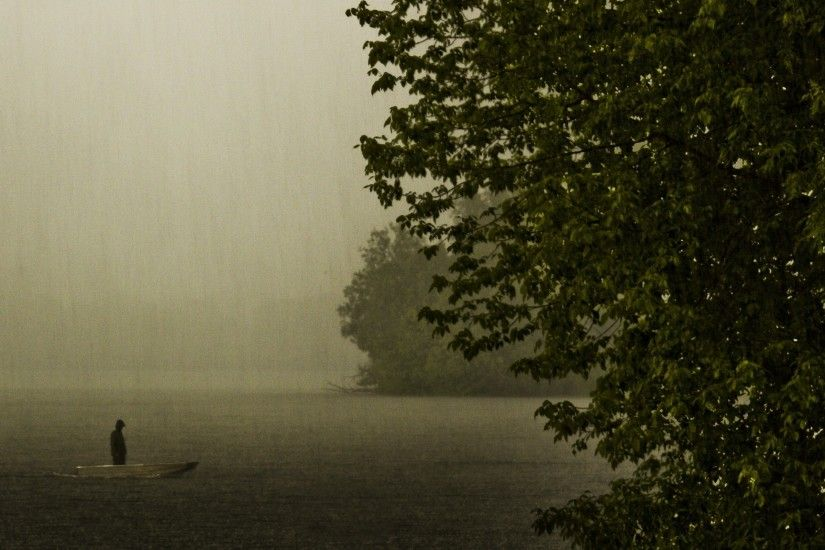 Rainy Day on the Lake wallpapers | Rainy Day on the Lake stock photos