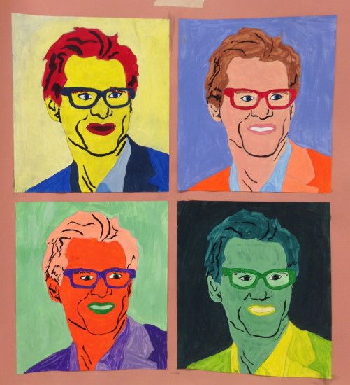 Famous painting Andy Warhol Jim Carrey