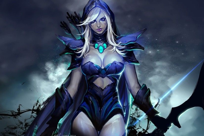 Unique Dota 2 Heroes Drow Ranger Roles Carry Disabler Pusher Abilities