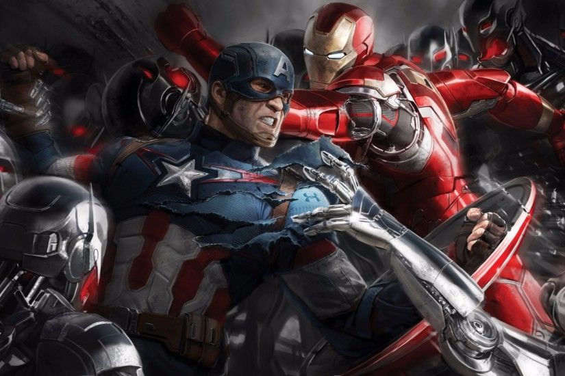 Iron Man and Captain America 4K Avengers Age of Ultron Wallpaper