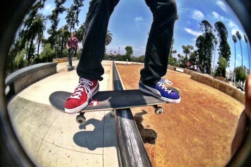 Fisheye Skateboard Wallpaper
